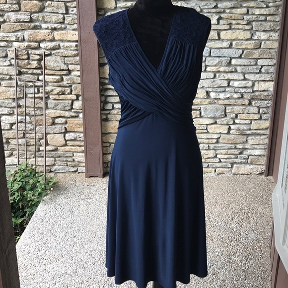 Adrianna Papell Dresses & Skirts - Adrianna Papell Navy Evening Dress